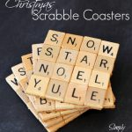 Christmas Scrabble Tile Coasters