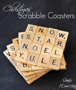 Christmas Scrabble Tile Coasters