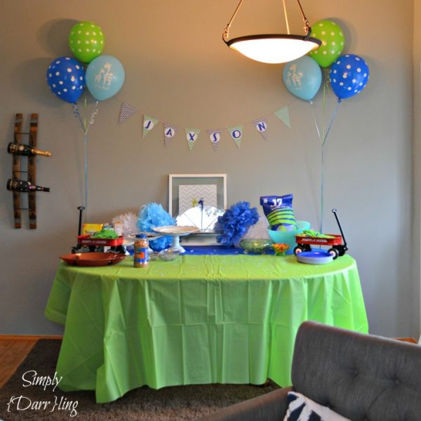 A Blue and Green Baby Shower