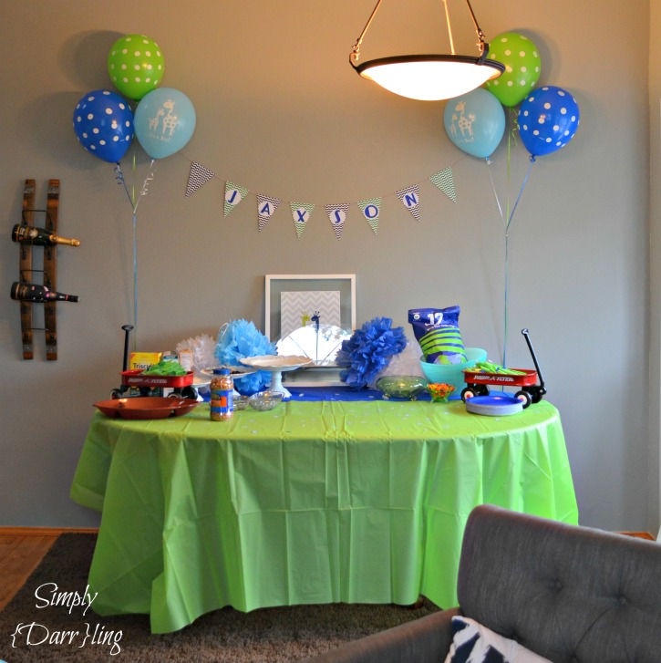 Blue and Green Baby Shower