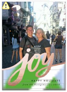 Joy photo card