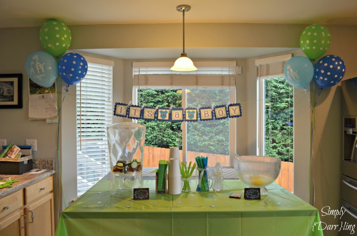 Kitchen Drink Table Blue and Green Shower