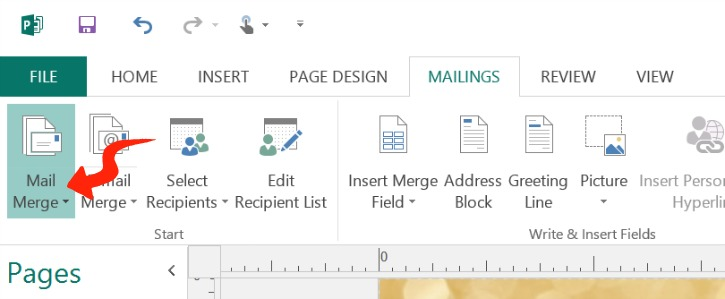 Mail Merge Publisher