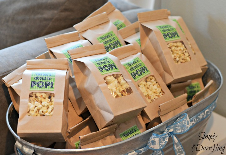 Baby Shower Favors Using Popcorn ~ Baby shower food ideas baby shower favor ideas nail polish