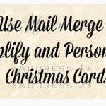 Address Your Christmas Cards With Mail Merge