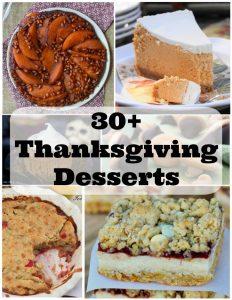 30+ Thanksgiving Desserts