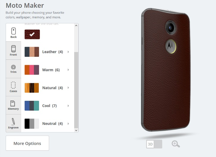 Moto X Back Colors