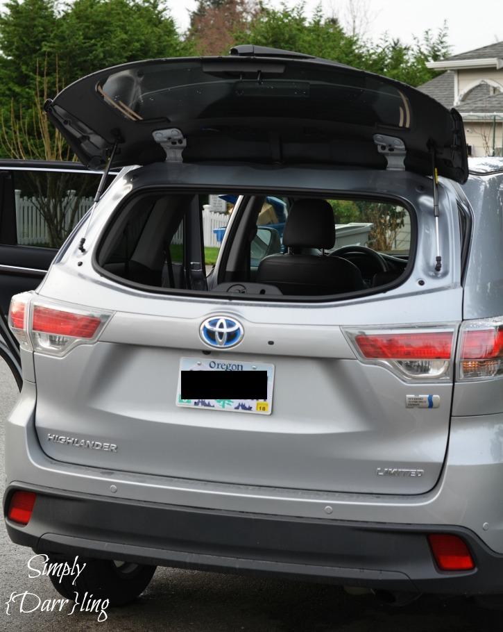 Rear Window Toyota Highlander