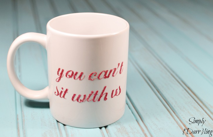 Mean Girls Inspired Glitter Coffee Cup