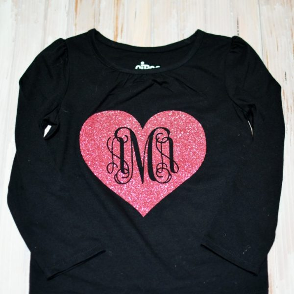 Valentines Day Monogram Tee