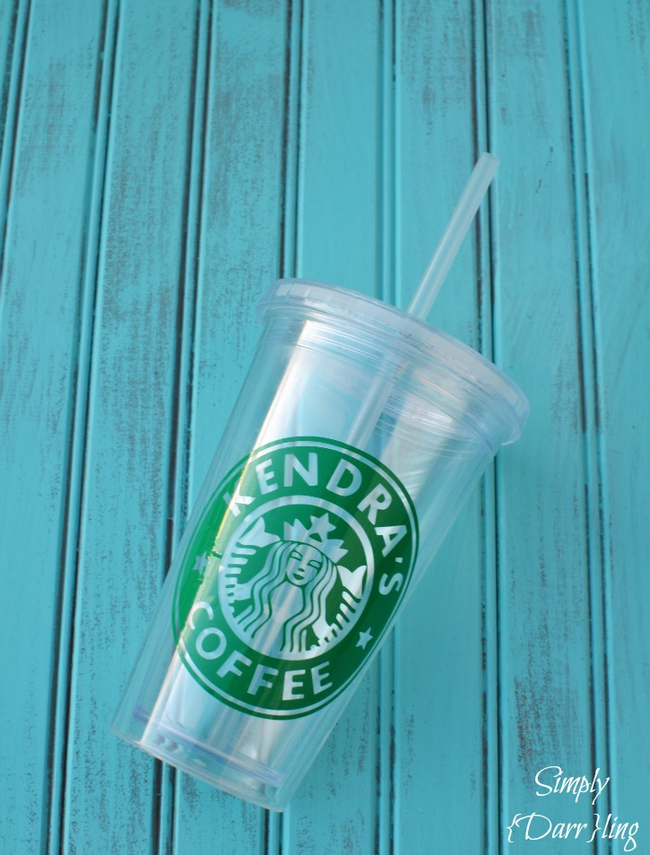 Custom Starbucks Inspired Coffee Cup