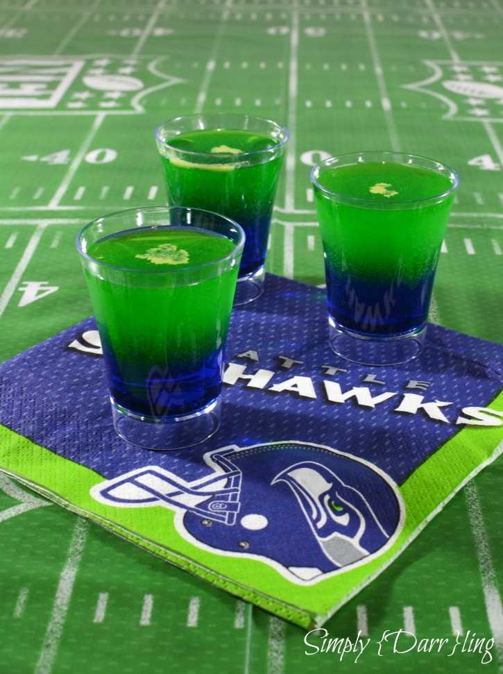 Seahawks Dual Color Layered Shot