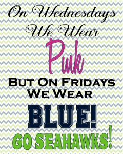 Seahawks Inspired Printables