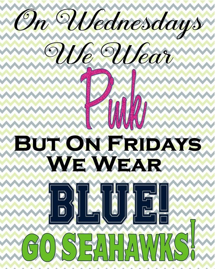 Seattle Seahawks Inspired Printable