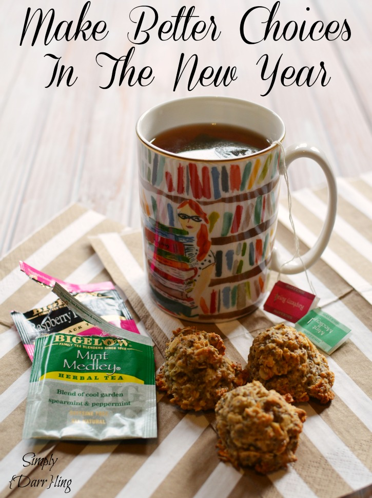 Bigelow tea and truvia cookies