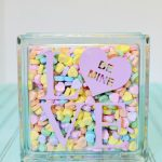 Conversation Heart LOVE Block