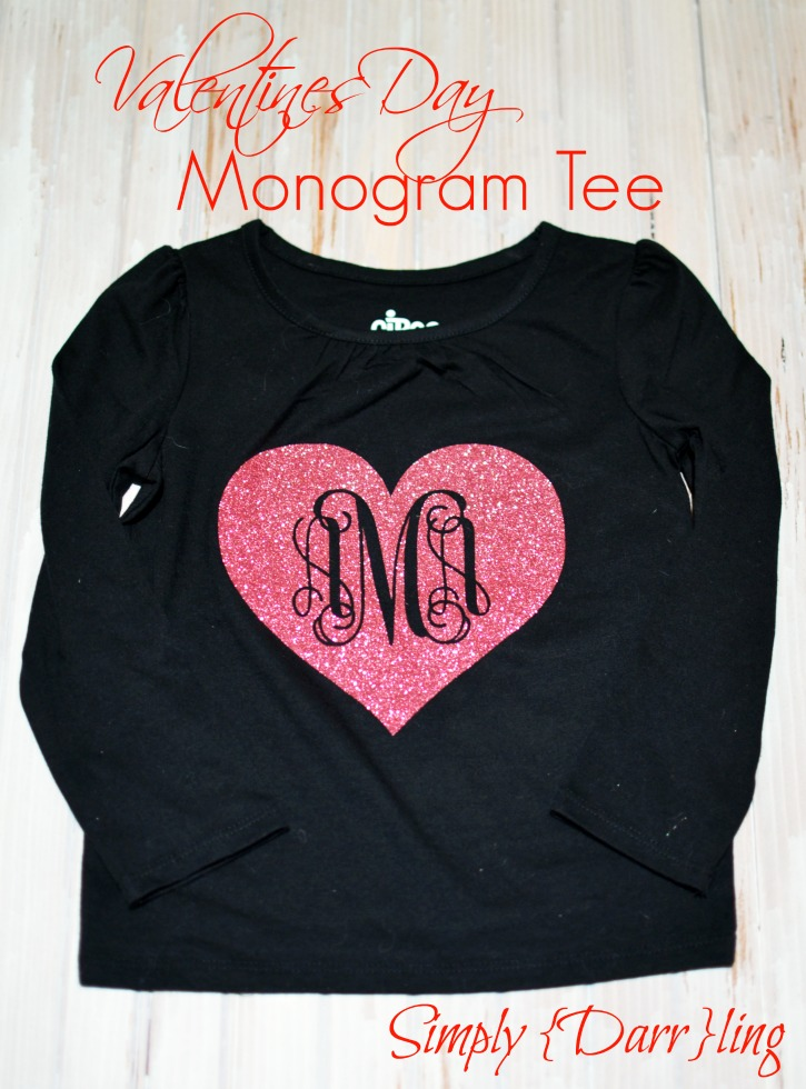 Valentines Day Monogram Tee Simply Darr Ling