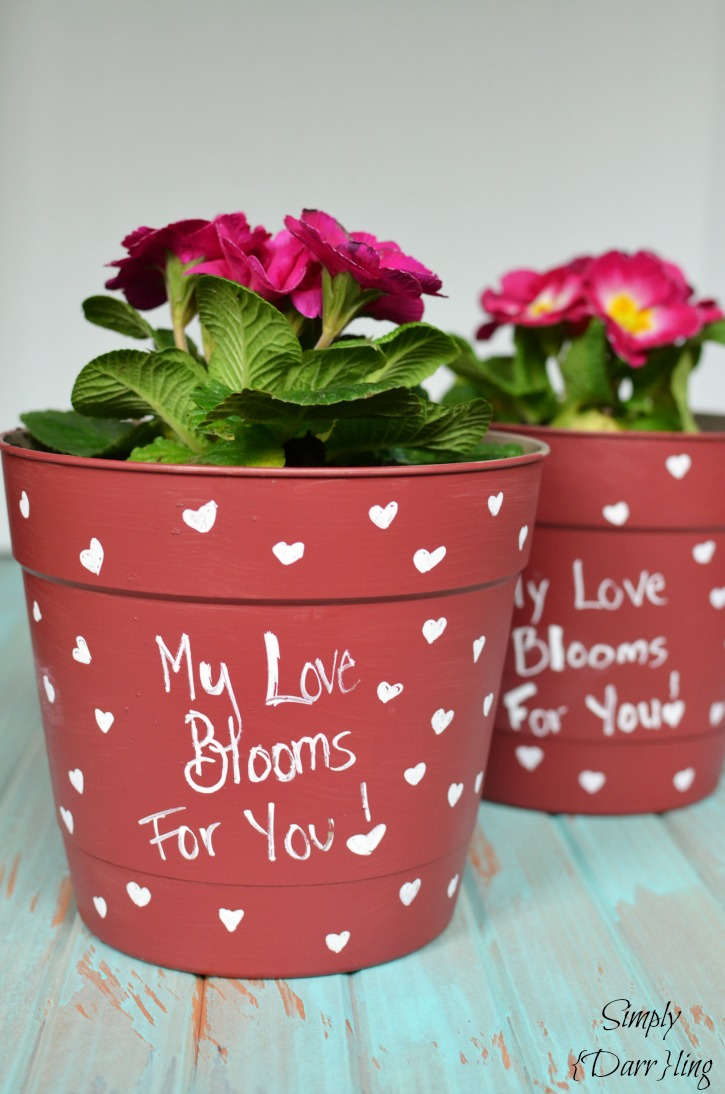Valentines Day Flower Pot