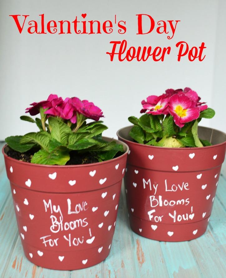 Valentines Day Flower Pot