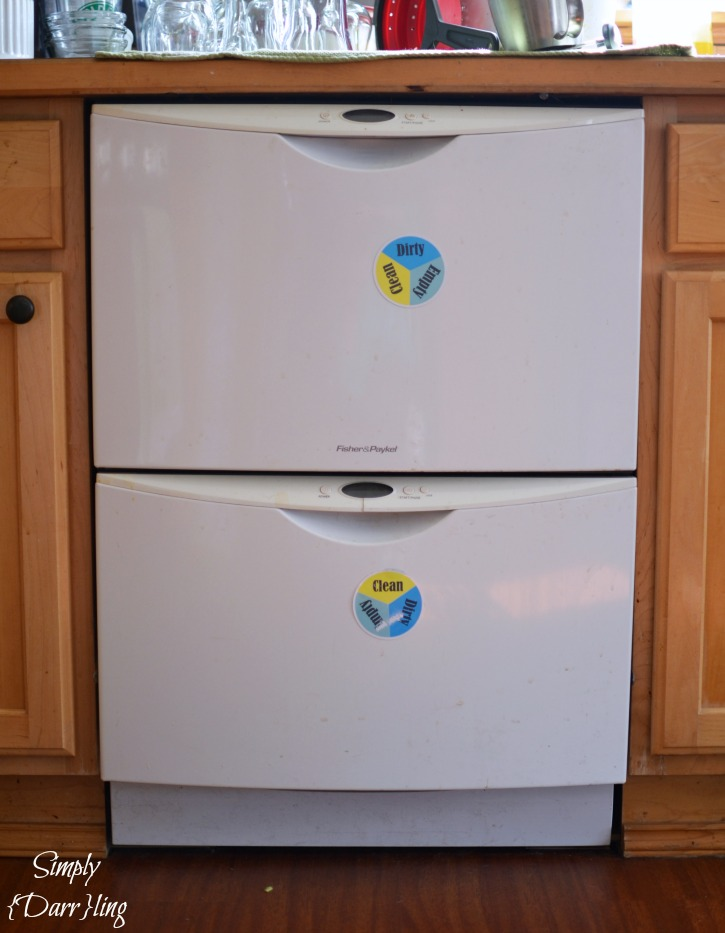 Dish drawer empty clean or dirty dishwasher magnet