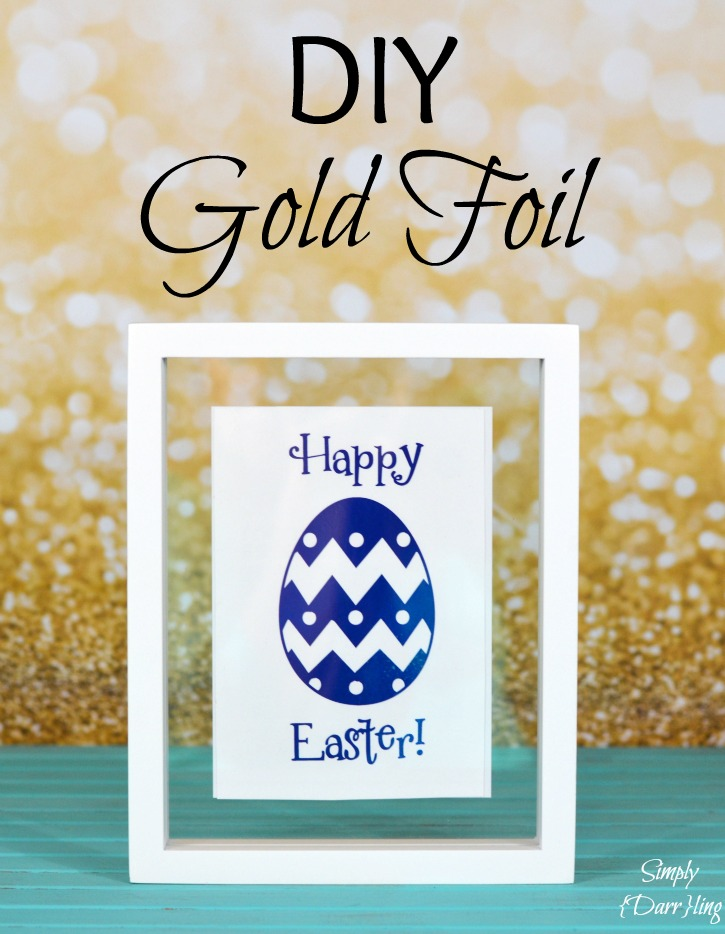 DIY Toner Reactive Gold Foil Print