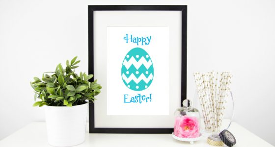 Easter Printable & DIY Gold Foil