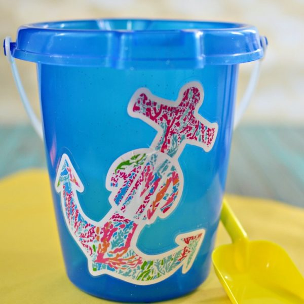 Lilly Pulitzer Inspired Beach Pail