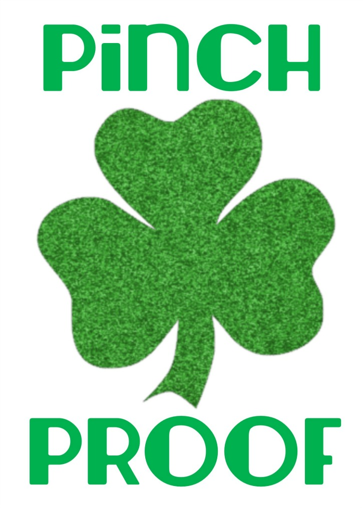 Pinch Proof Printable Shamrock