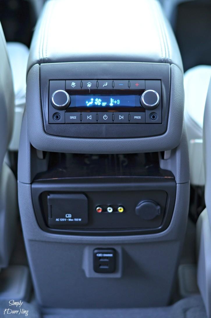 2015 Buick Enclave Rear Controls