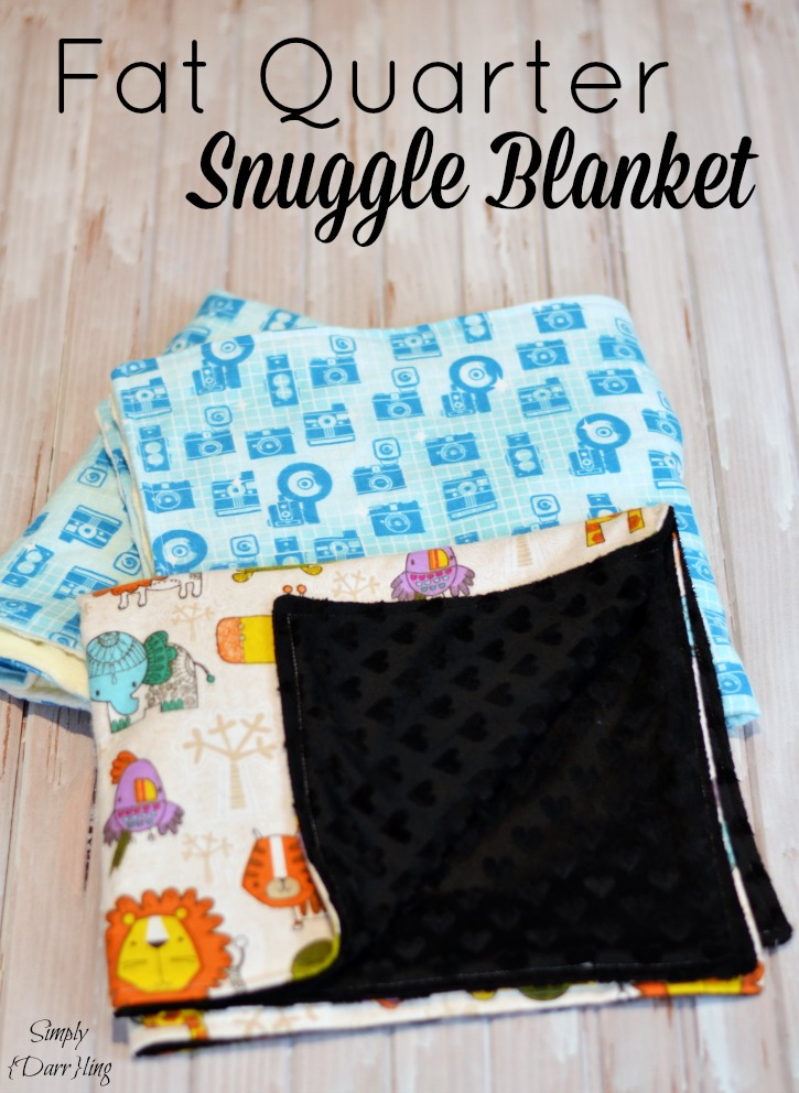 Fat Quarter Snuggle Blanket Simply Darr Ling