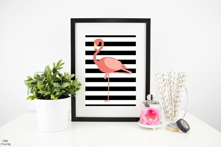 Free Flamingo Printable Styled