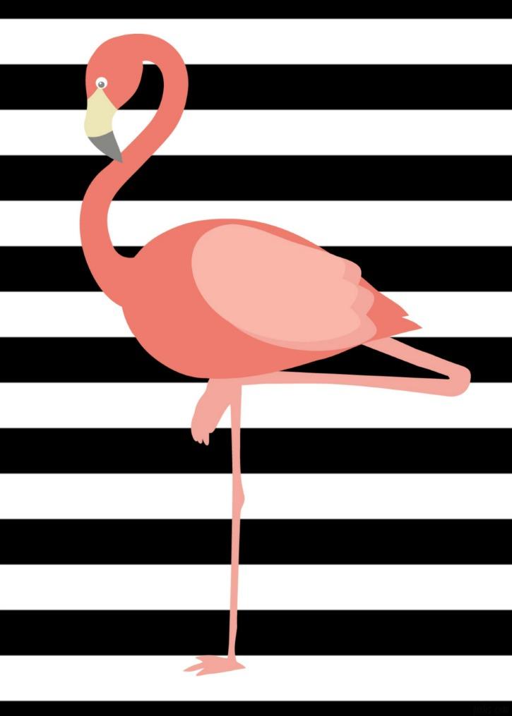 Flamingo printable simply darr ling - Laminas y posters decorativos ...