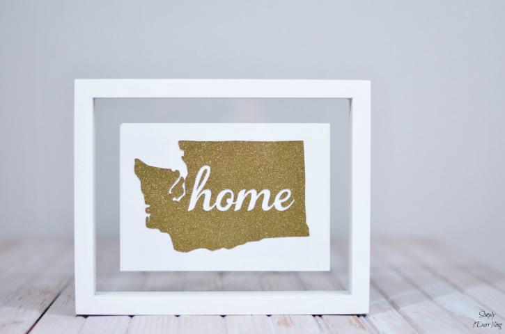 Glitered Washington State in Frame