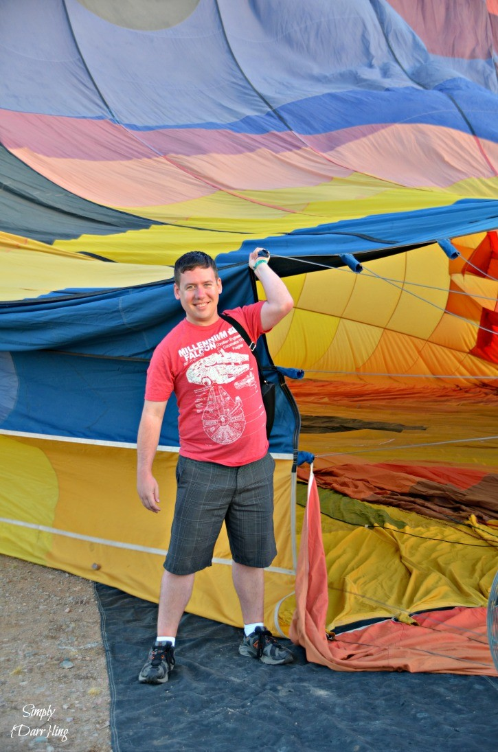brad holding hot air balloon