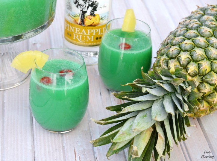 Pineapple Punch with Captain Morgan Rum