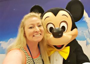 Selfie with Mickey Mouse at the Disney SMMC Event