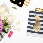 DIY Gold Foil Pineapple Print