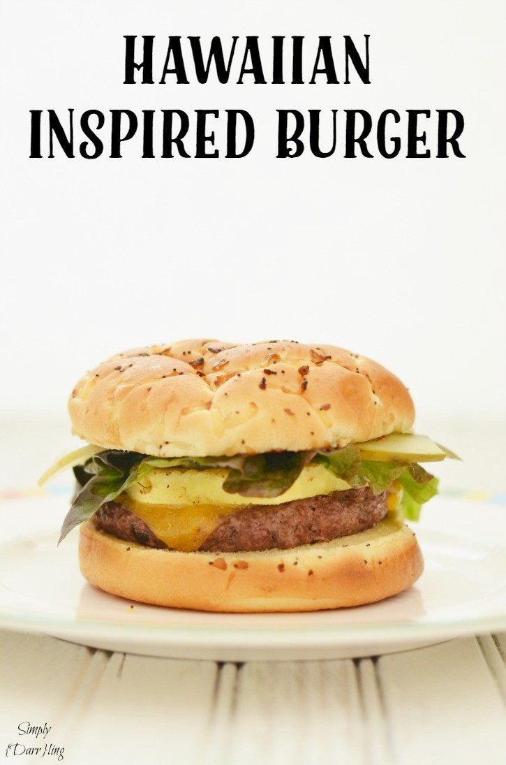 A delicious Hawaiian inspired cheeseburger
