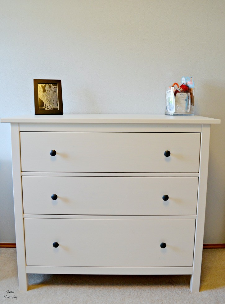 Ikea Hemnes Dresser In White And Grey Nursery