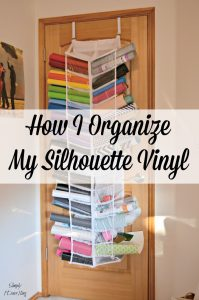 See how I organize my Silhouette Cameo vinyl - both heat transfer and adhesive