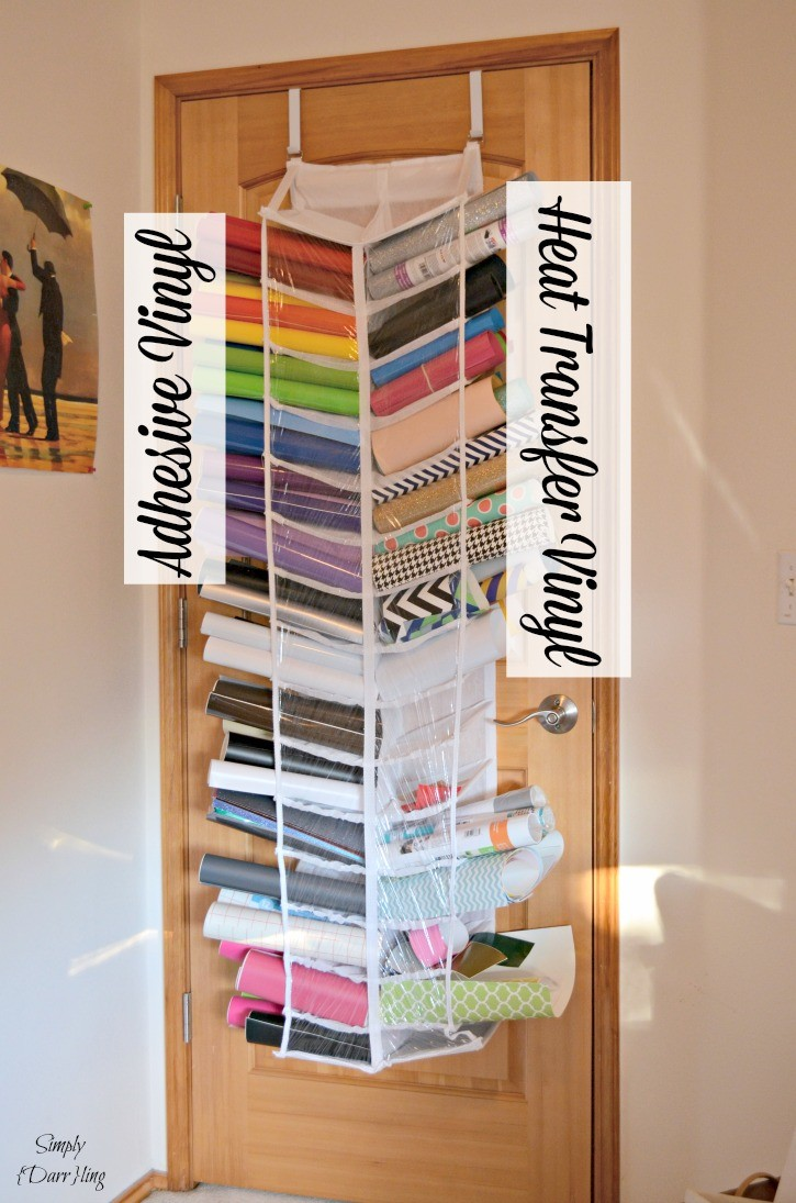 How I organize my Silhouette Cameo vinyl - both adhesive and heat transfer