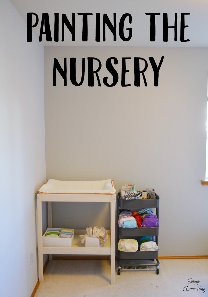 Painting The Nursery - a grey and white nursery begins.