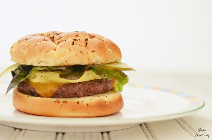 A Hawaiian inspired cheeseburger recipe