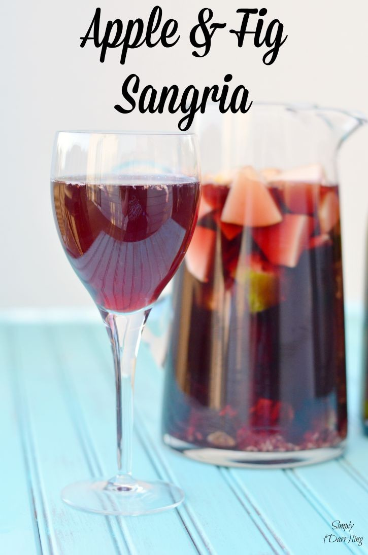 Apple and Fig Sangria featuring Ca Momi Wine