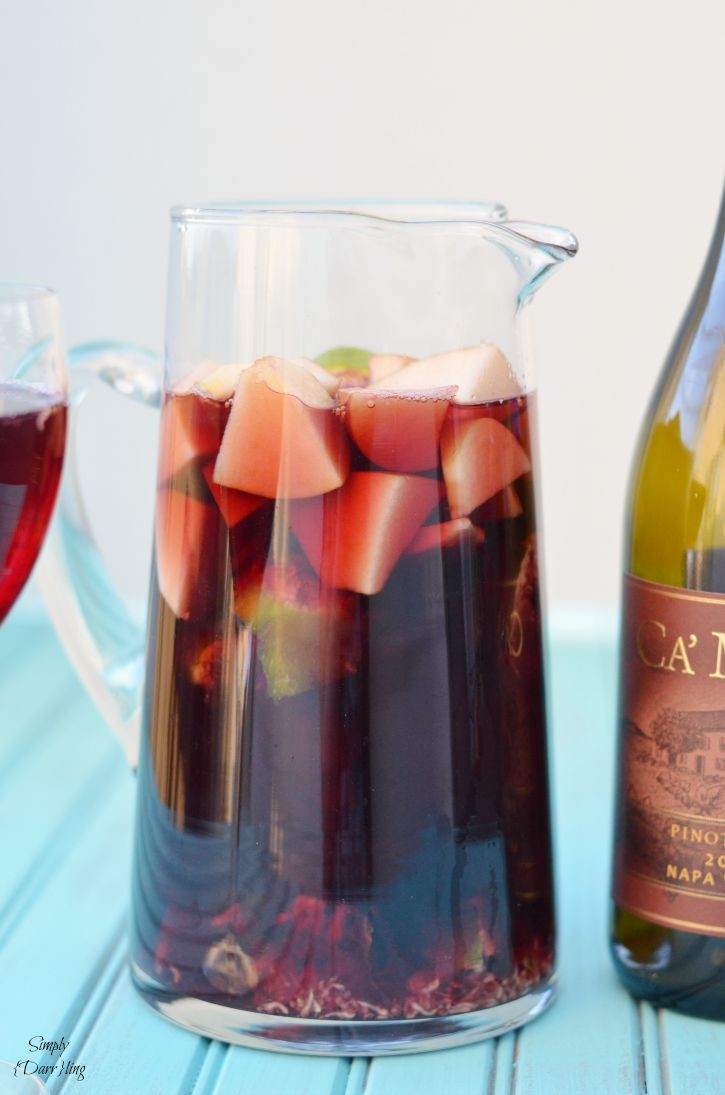 Apple & Fig Sangria featuring Ca Momi Wine