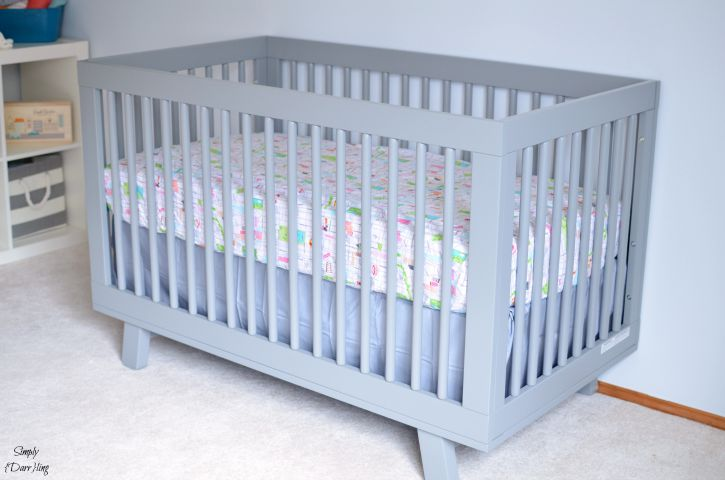 Custom Crib Sheet in babyletto hudson crib