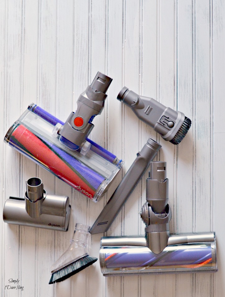 The Dyson V6 Absolute is a must have for surviving white carpet!
