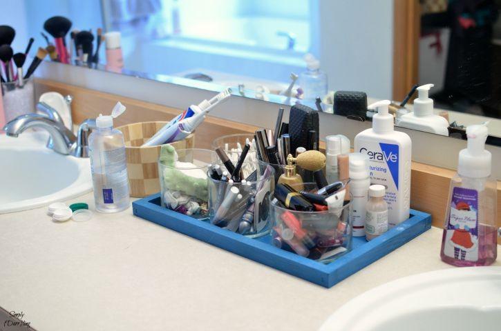 Organized Makeup in Jars