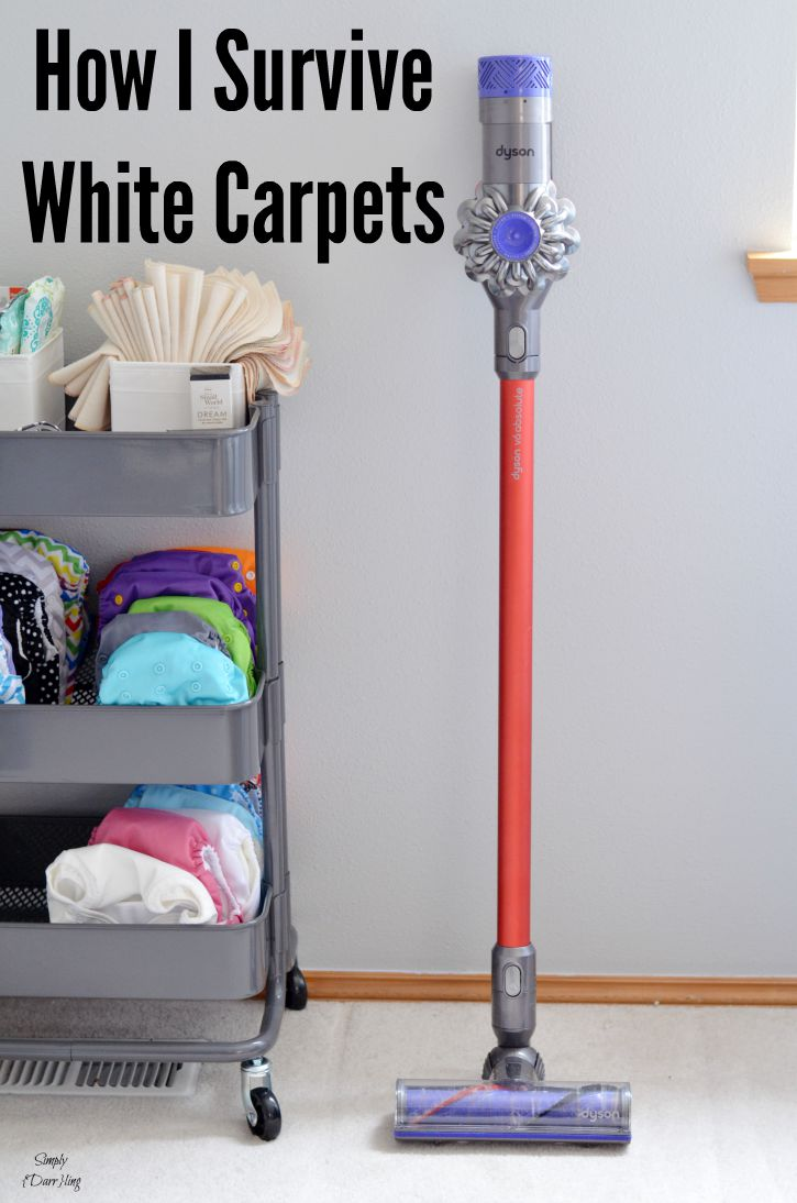 How I survive white carpets with the dyson v6 absolute