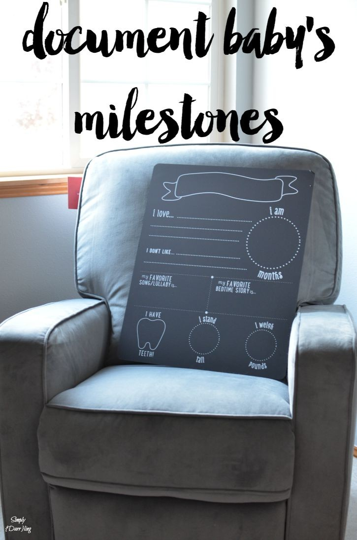 Document Baby's Milestones with Pearhead Chalkboard Background